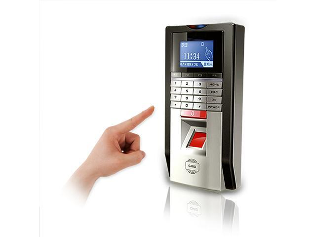 Fingerprint Door Access Control Time Attendance Terminal with TCP/IP (Silver)