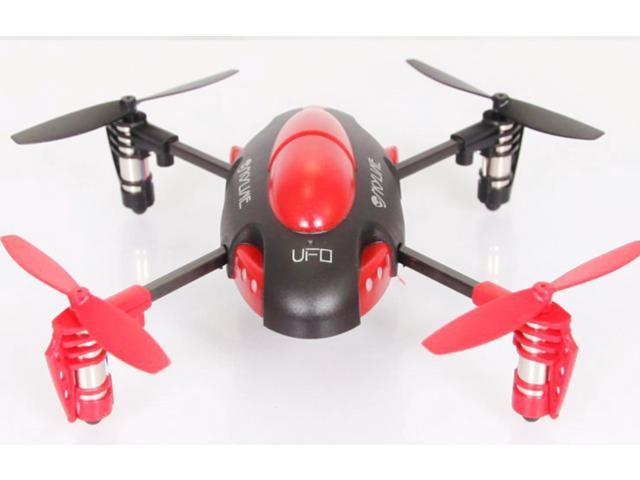 2.4 GHZ. 4 channel Radio Control QX-305 6 Axis Quad Copter Gyroscope - Red