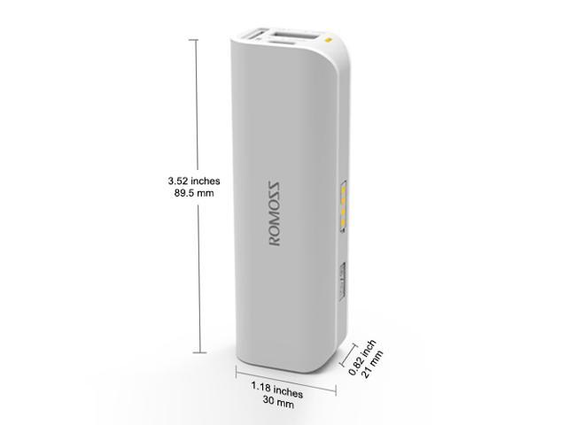For Google Glass, Gopro , MP3 MP4 MP5 - Romoss 2600mAh Portable External Battery Backup Charger Power Bank Charger