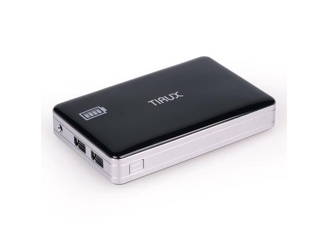 Tirux 13600mAh Portable External Battery Huge Capacity Dual-Port Power Bank Charger for Smartphones and Tablets iPhone 5S ...