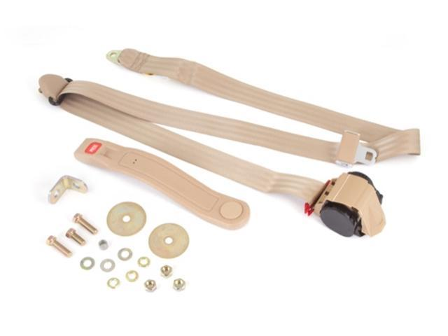 Omix-Ada 13202.22 Seat Belt Seat Belt; 3 Point; Tan; Belt Mounting Hardware