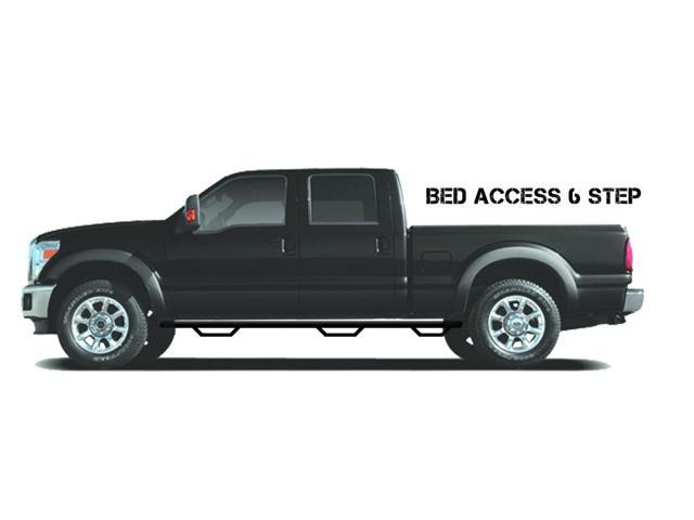 N-Fab C1595QC-6 Nerf Steps 2015-2015 Chevrolet Silverado 2500 HD Gloss Black