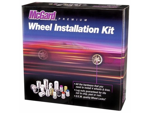 McGard 84551 Chrome/Black Bulge Cone Seat Wheel Install Kit; 5 Lug (1/2