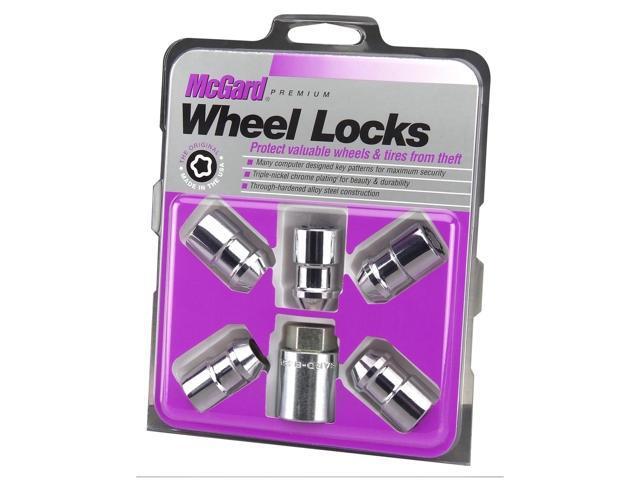 McGard 24537 Chrome Cone Seat Wheel 5 Lock Set (M12 x 1.5)