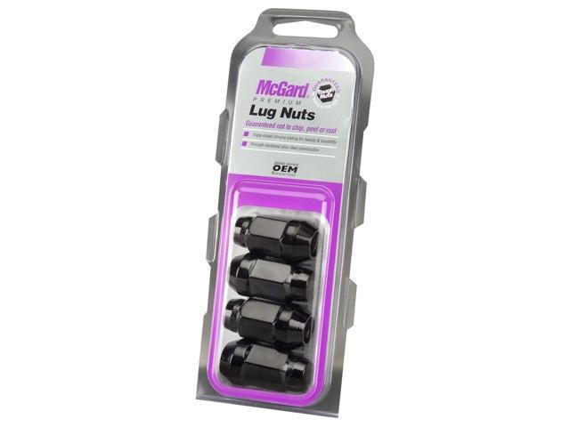 McGard 64015 Chrome/Black Bulge Cone Seat Style Lug Nuts (M12 x 1.5) Set of 4