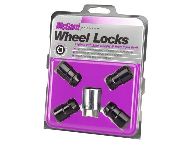 McGard 24026 Chrome/Black Cone Seat Wheel Lock Set (M12 x 1.5)