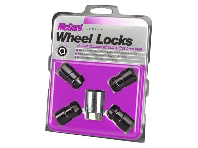 McGard 24038 Chrome/Black Cone Seat Wheel Lock Set (1/2