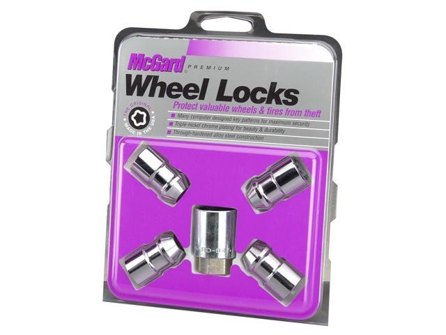 McGard 24130 Chrome Cone Seat Wheel Lock Set (1/2