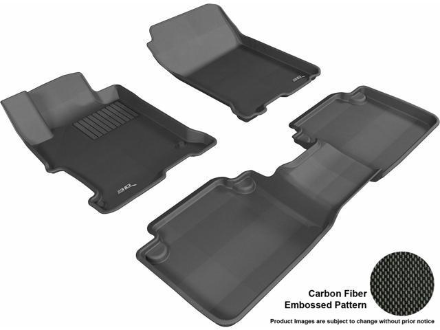 Maxpider l1hd04801509 kagu floor mat front rear black for 1992 honda accord floor mats