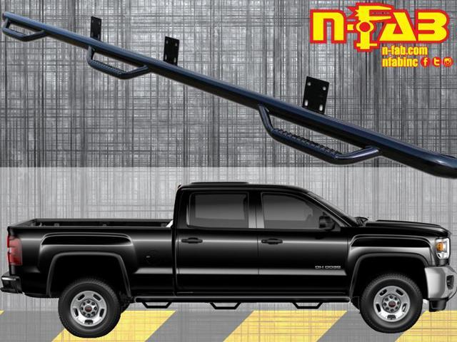 N-Fab C15104CC-6 Nerf Steps 2015-2015 Chevrolet Silverado 2500 HD Gloss Black
