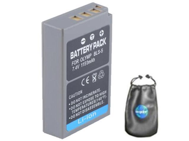 Digital Replacement Battery for Specific Digital Camera and Camcorder Models / Compatible with OLYMPUS BLS-5 - Includes Leatherette ...