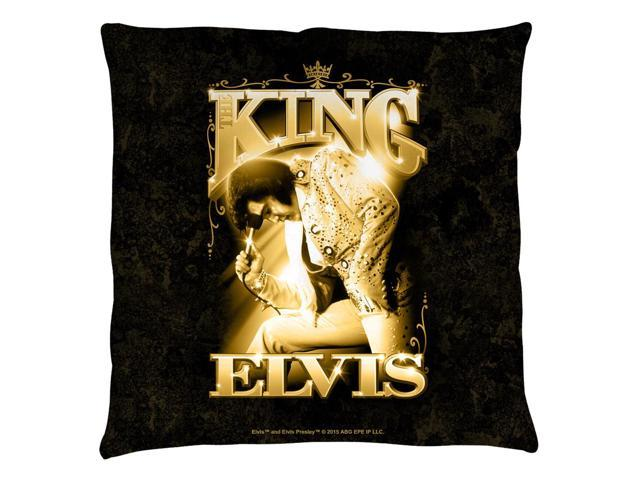 Elvis Presley The King Throw Pillow White 20X20