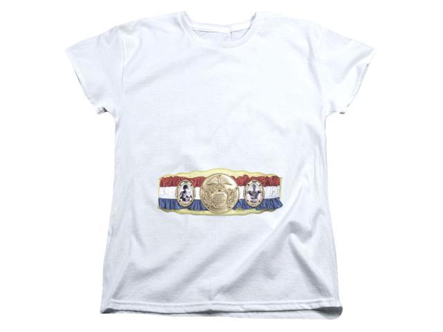 Rocky Championship Belt (Bottom Front) Womens Short Sleeve Shirt