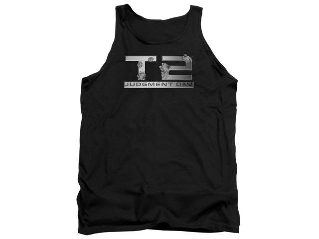 Terminator 2 Gunshot Logo Mens Tank Top Shirt