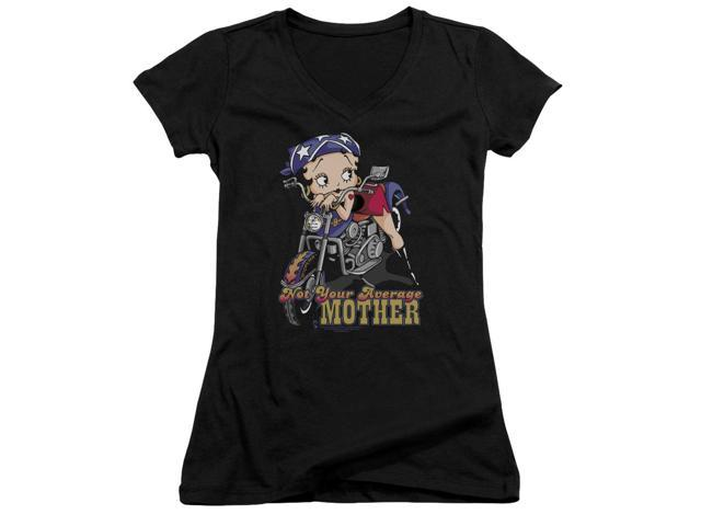 Betty Boop Not Your Average Mother Juniors V-Neck Shirt