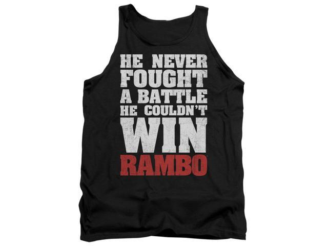 Rambo:First Blood He Never Mens Tank Top Shirt