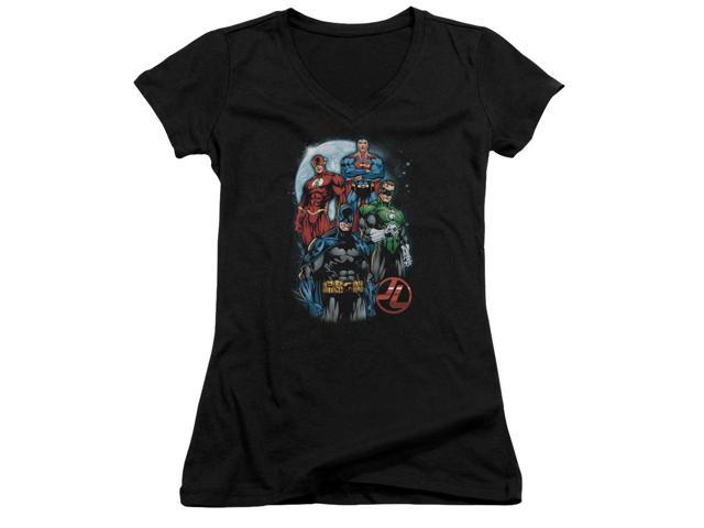 Jla The Four Juniors V-Neck Shirt