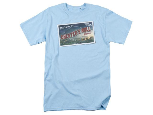 Under The Dome Postcard Mens Short Sleeve Shirt