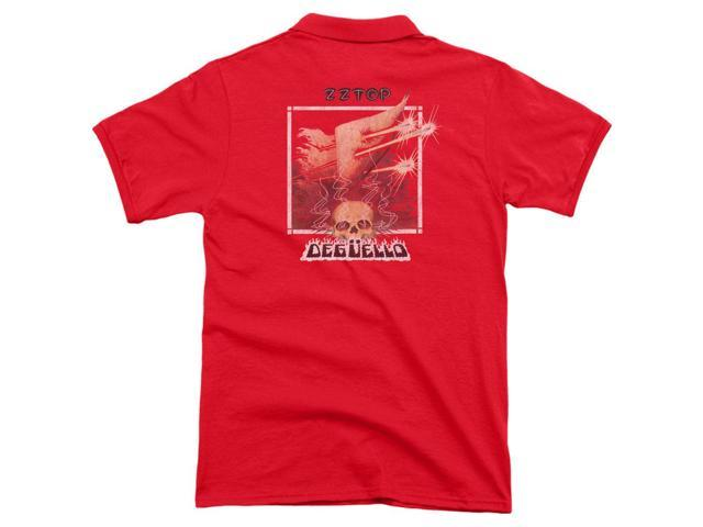 Zz Top Deguello Cover (Back Print) Mens Polo Shirt