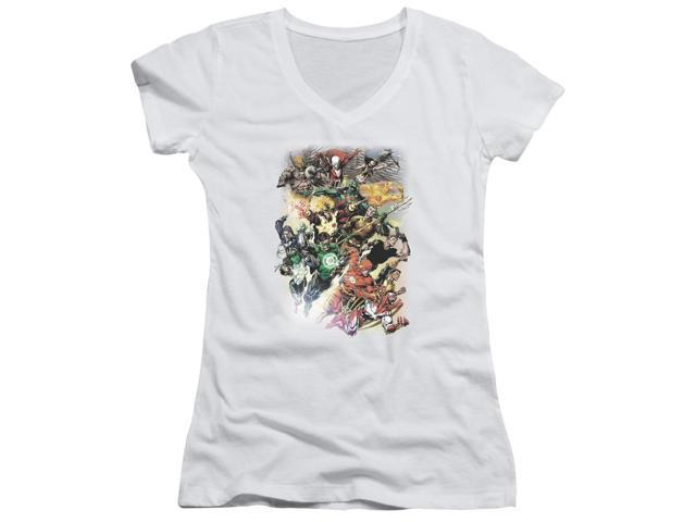 Jla Brightest Day #0 Juniors V-Neck Shirt