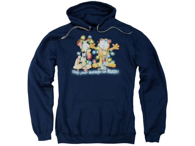 Garfield Bright Holidays Mens Adult Pullover Hoodie