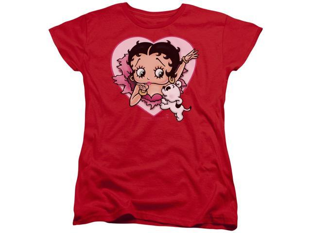 Betty Boop I Love Betty Womens Short Sleeve Shirt