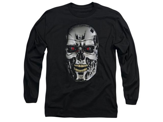 The Terminator Skull Mens Long Sleeve Shirt
