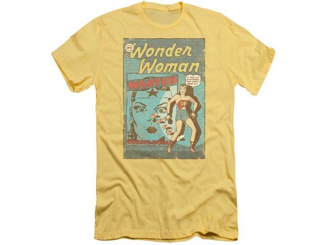 DC Comics Wonder Woman Wanted Mens Adult Slim Fit Shirt
