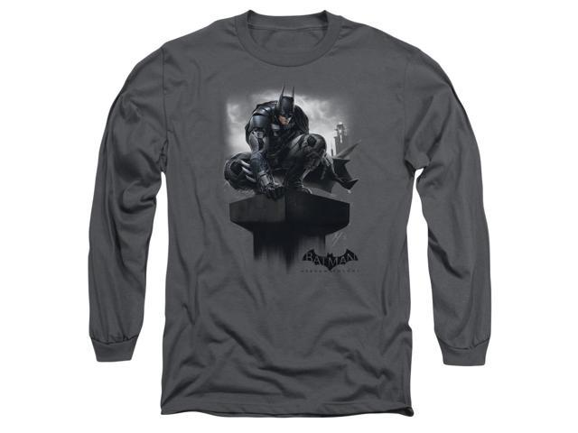 Batman Arkham Knight Perched Mens Long Sleeve Shirt