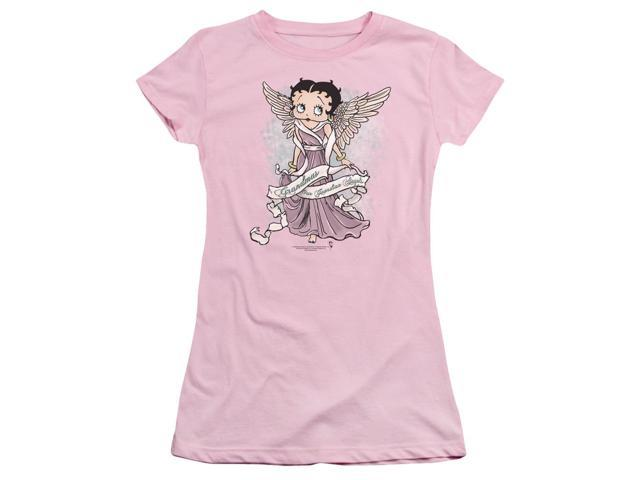Betty Boop Grandma Guardian Angel Juniors Short Sleeve Shirt