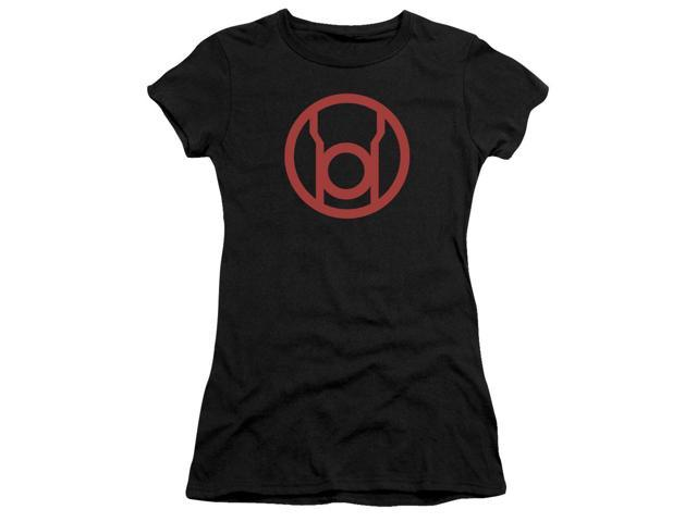 Green Lantern Red Emblem Juniors Short Sleeve Shirt