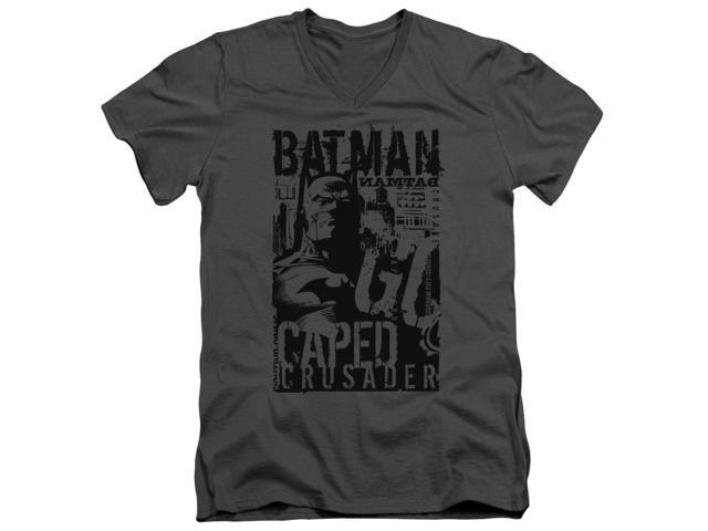 Batman Caped Crusader Mens V-Neck Shirt