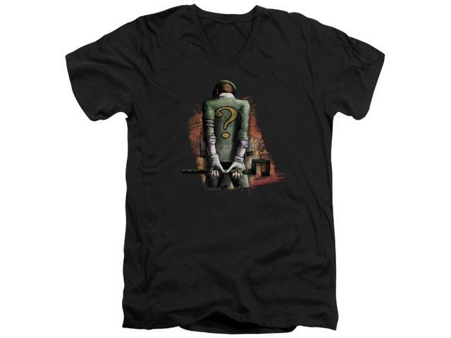 Batman Arkham City Riddler Convicted Mens V-Neck Shirt