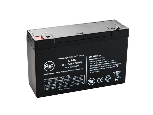 Big Beam H2RL6S10 6V 10Ah Emergency Light Battery - This is an AJC Brand® Replacement