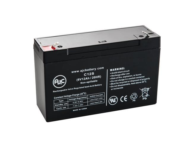 Dual-Lite 12727 6V 12Ah Emergency Light Battery - This is an AJC Brand® Replacement