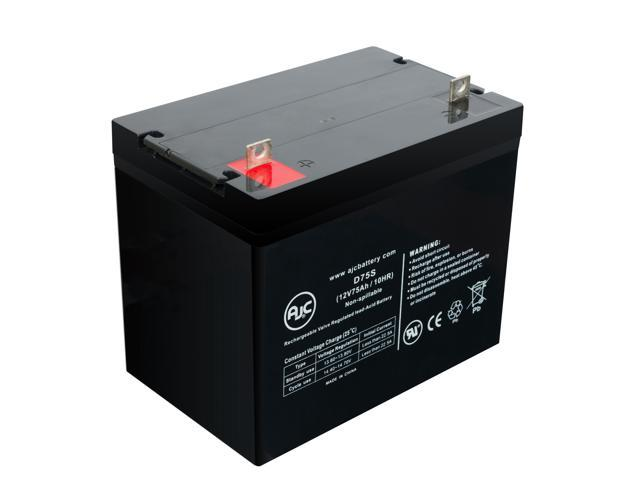Pride 1104 12V 75Ah Wheelchair Battery - This is an AJC Brand® Replacement