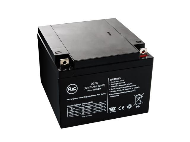 Portalac PE12V24AF1 12V 26Ah Emergency Light Battery - This is an AJC Brand® Replacement