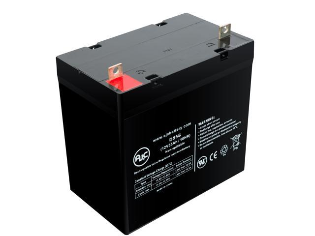Golden GP-201 HD 12V 55Ah Wheelchair Battery - This is an AJC Brand® Replacement