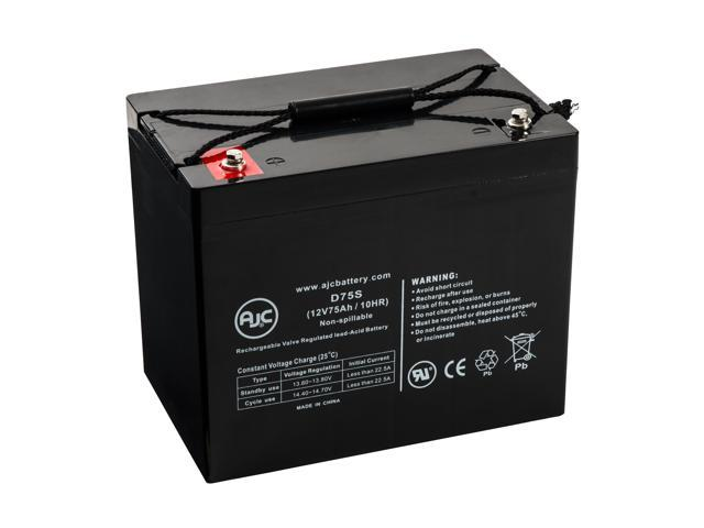 Pride Jazzy 1450 12V 75Ah Wheelchair Battery - This is an AJC Brand® Replacement