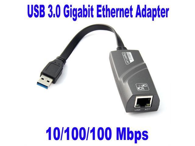 Baaqii USB 3.0 to Ethernet Lan Network RJ45 Port Adapter 10/ 100/ 1000Mbps  1 x RJ45