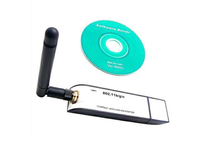 Baaqii WA003 USB Wireless 150M Network LAN WIFI Card Adapter Antenna