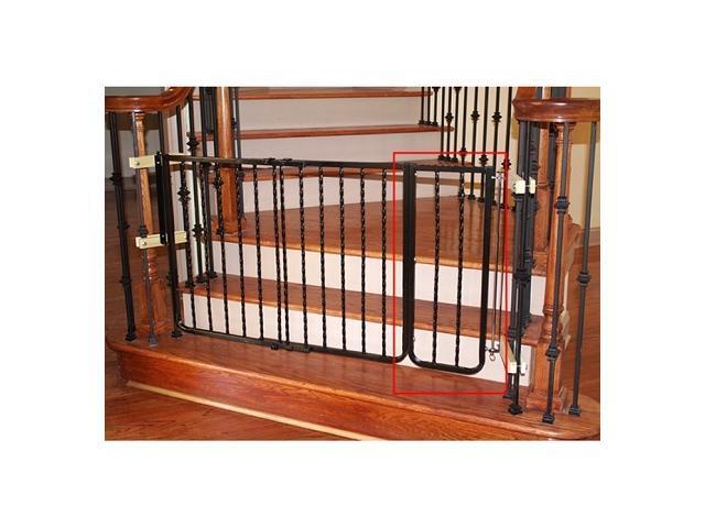 Wrought Iron Decor Gate Extension - Bronze