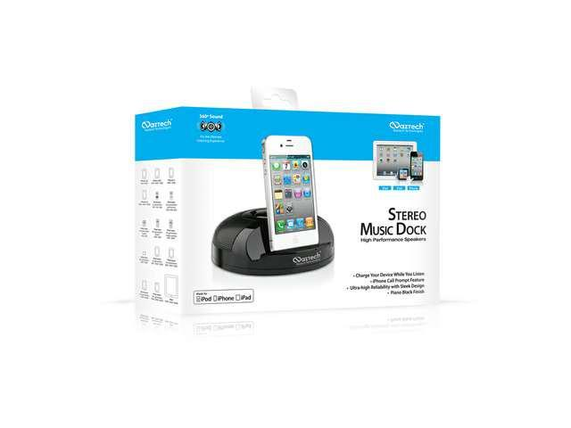 Naztech N27 Apple Certified Stereo Music Dock for iPhone iPod and iPad
