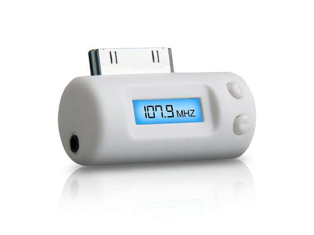 Naztech N3010 FM Transmitter and Charger for iPhone - iPod - iPad - White RTL