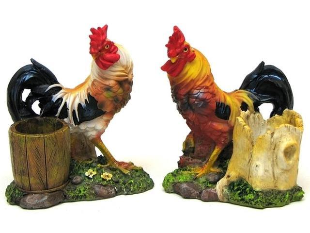 IWGAC 0154-17829 Rooster Toothpick Holder 2 Assorted