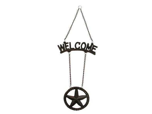 Cast Iron Welcome Star Sign-0170S-08434