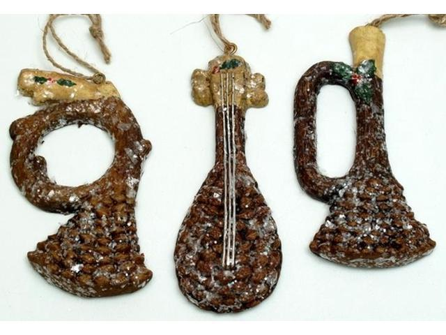 Paperstone Pinecone Ornaments Set of Three-0197-250743