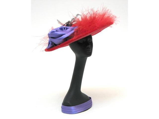 IWGAC 0126-16009 Red Hat Mannequin with Hat Red feather