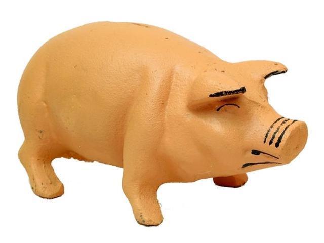 Cast Iron Pig Bank Iron Pink-0170S-04615