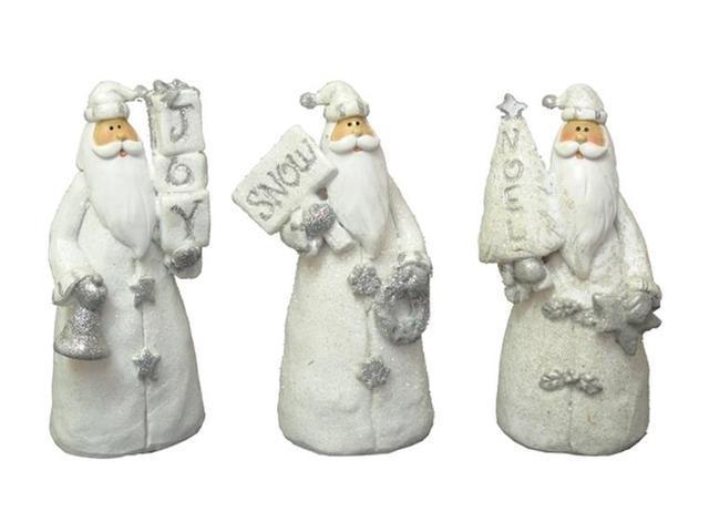 Resin Santa Figurines Set of Three-049-90245